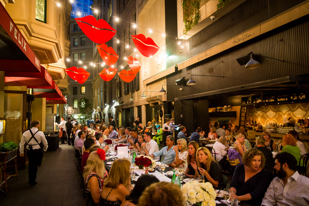 March into Merivale presents ?A Night in Paris? with chefs chefs?Ben Greeno and Nathan Johnson?at Ash St Laneway on March 10, 2016 in Sydney, Australia. Photo by Anna Kucera